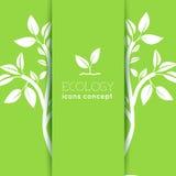 La progettazione piana dell'ecologia, ambiente, verde pulisce Immagini Stock