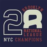 La progettazione segna i campioni con lettere del cittadino di Brooklyn Fotografia Stock Libera da Diritti