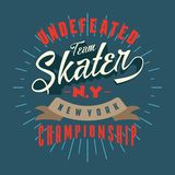 La progettazione segna il campionato con lettere di New York del pattinatore Immagini Stock