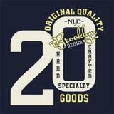 La progettazione segna la qualità con lettere originale Brooklyn Immagini Stock