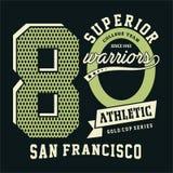 La progettazione segna San Francisco con lettere atletica superiore Fotografie Stock Libere da Diritti