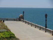 La promenade de Cadix, Espagne photos libres de droits