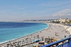 La 'promenade' del Anglais, Niza Imagen de archivo