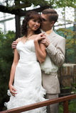 La promenade des nouveaux mariés Photo stock