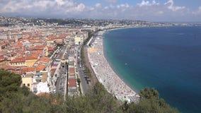 La 'promenade' en Niza almacen de metraje de vídeo
