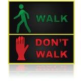 La promenade et ne marchent pas Images stock