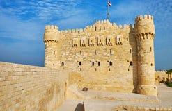 La promenade le long des murs de fort, l'Alexandrie, Egypte image stock