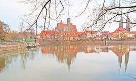 La promenade le long du fleuve Oder Photographie stock libre de droits