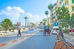 La 'promenade' mediterránea Fotos de archivo libres de regalías