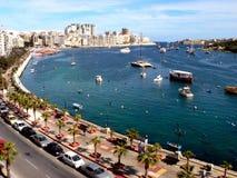 La 'promenade', Sliema, Malta Imágenes de archivo libres de regalías