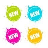 La promoción del nuevo producto salpicó el icono del vector libre illustration
