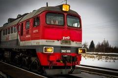 La propaganda rusa El tren ruso de la campaña del partido de oposición LDPR Foto de archivo