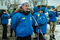 La propagande russe Le train russe de campagne du parti d'opposition LDPR Photo libre de droits