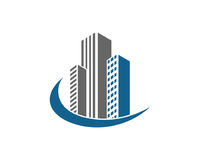 La proprietà di Real Estate ed il logo della costruzione progettano per il segno corporativo di affari Fotografia Stock Libera da Diritti