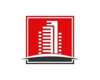 La proprietà di Real Estate ed il logo della costruzione progettano per il segno corporativo di affari Fotografie Stock