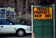 La proprietà privata mantiene fuori Immagine Stock