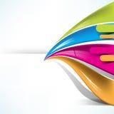 La prospettiva multicolore allinea la priorità bassa Immagine Stock