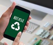 La protección ambiental recicla el salvar vidas verde Preservatio Fotos de archivo libres de regalías