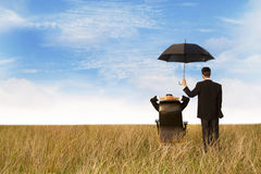La protección del agente de seguro Foto de archivo libre de regalías