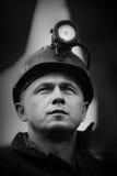 La protesta Acción-de la huelga de mineros silesios Foto de archivo