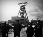 La protesta Acción-de la huelga de mineros silesios Imagen de archivo libre de regalías