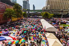 La protesta de Tailandia contra la corrupción gubernamental. Imágenes de archivo libres de regalías