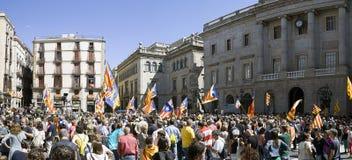 La protesta reúne la libertad y la independencia España Cataluña Barcelona Imagen de archivo