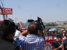 La protestation de jour de travail march Tegucigalpa le Honduras en mai 2019 21 photographie stock libre de droits