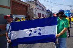 La protestation de jour de travail march Tegucigalpa le Honduras en mai 2019 17 photographie stock libre de droits