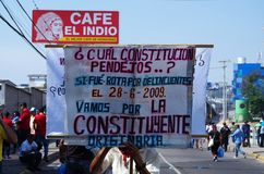 La protestation de jour de travail march Tegucigalpa le Honduras en mai 2019 14 image libre de droits