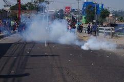 La protestation de jour de travail march Tegucigalpa le Honduras en mai 2019 12 images libres de droits
