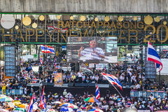 La protestation de la Thaïlande contre la corruption gouvernementale. Photographie stock