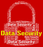 La protezione dei dati indica la connessione protetta e la segretezza Immagine Stock Libera da Diritti