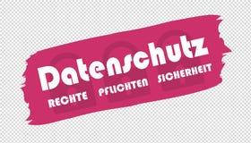 La protezione dei dati tedesca di pennellata radrizza la sicurezza di funzioni - illustrazione di vettore royalty illustrazione gratis