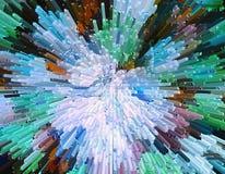 La protuberancia del color bloquea el backgroun colorido abstracto de la protuberancia 3D Fotos de archivo