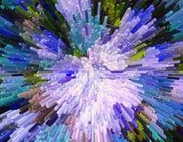 La protuberancia del color bloquea el backgroun colorido abstracto de la protuberancia 3D Imagenes de archivo