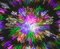 La protuberancia del color bloquea el backgroun colorido abstracto de la protuberancia 3D Imagen de archivo libre de regalías