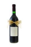 la proue de bouteille a décoré le vin rouge de bande Image libre de droits
