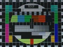 La prova della TV sreen immagini stock
