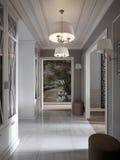 La Provence classique moderne élégante et le Hall Interior luxueux Photographie stock