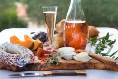 La Provence da placa A do presunto do queijo fotografia de stock