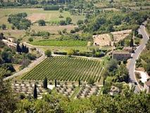 La Provence - vue bird's-eye, sud de la France Images stock