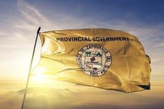 La provincia de Zamboanga del Sur de Filipinas señala la tela del paño por medio de una bandera de la materia textil que agita en fotos de archivo libres de regalías