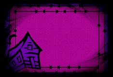 La púrpura hallowen el fondo Imagenes de archivo
