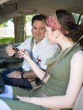 La prueba de conducción adolescente comienza Fotografía de archivo