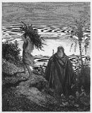 La prueba de la fe de Abraham ilustración del vector