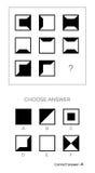 La prueba del índice de inteligencia elige respuesta stock de ilustración