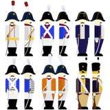 La Prusse d'armée d'uniformes militaires en 1812 Image stock