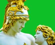 La psiche ha fatto rivivere tramite il bacio del Cupid Fotografie Stock Libere da Diritti