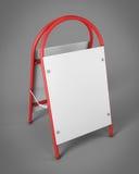 La publicidad al aire libre representa su diseño Estante promocional adentro Imágenes de archivo libres de regalías